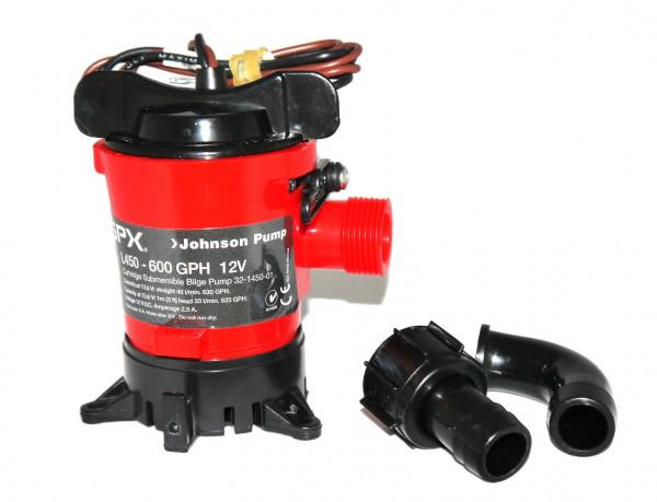 Johnson Pump L-serie Bilgepump (cartridge typ) L450, 12V / 2,5A, 40l/min, Föderhöhe max. 2,5m
