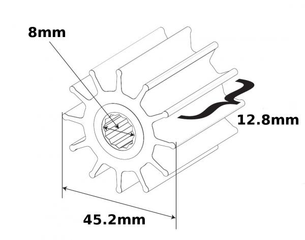 SPX Johnson Pump Impeller TA3P10 1052S-9