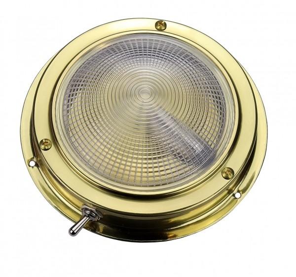 Deckenlampe 140mm Messing poliert für 12V