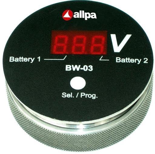 """allpa Batterie Kontrollmonitor Modell """"BW-03"""", Display: rot"""