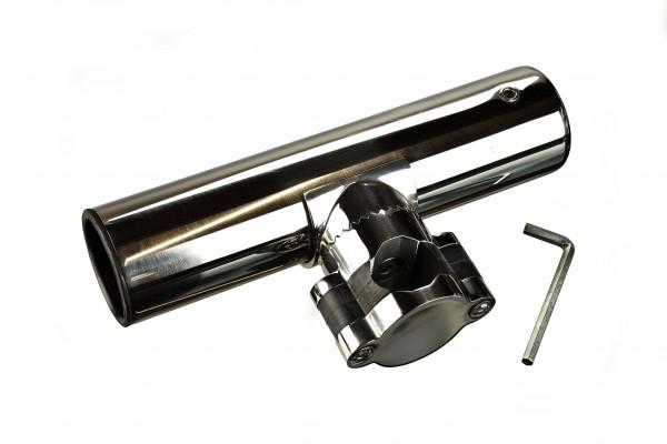 NIRO Angelrutenhalter für Relingsmontage (Ø25mm), L=215mm, max. Ø40mm