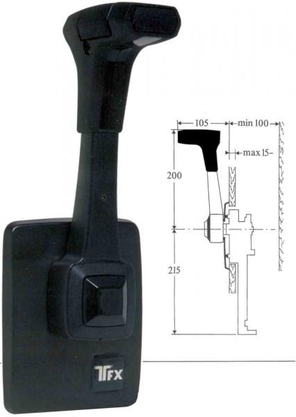 Einhebel-Fernbedienung B80, Seitenmontage, Standard