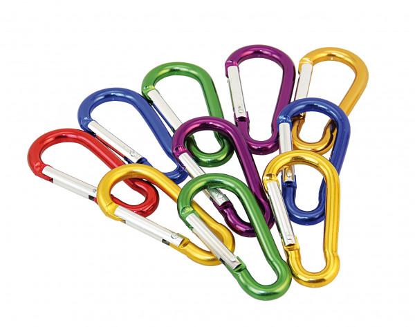 Alu-Karabinerhaken farbig Kettenverschluss Schlüsselanhänger