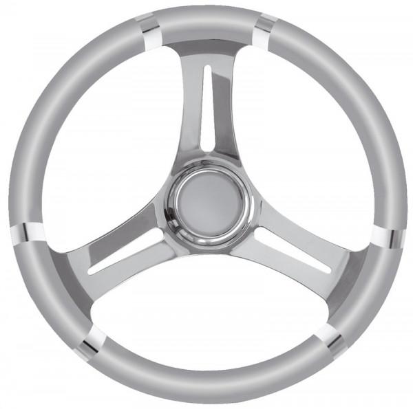 B Steuerrad Polyurethan weich grau/VAStahl 350mm