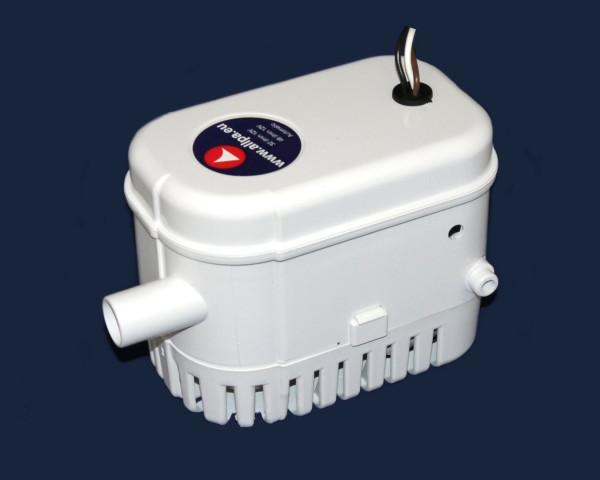 allpa Bilgepumpe mit integriertem Schwimmerschalter, 48l/min, 12V, 3.0A, Ø 19mm Schlauchanschluß