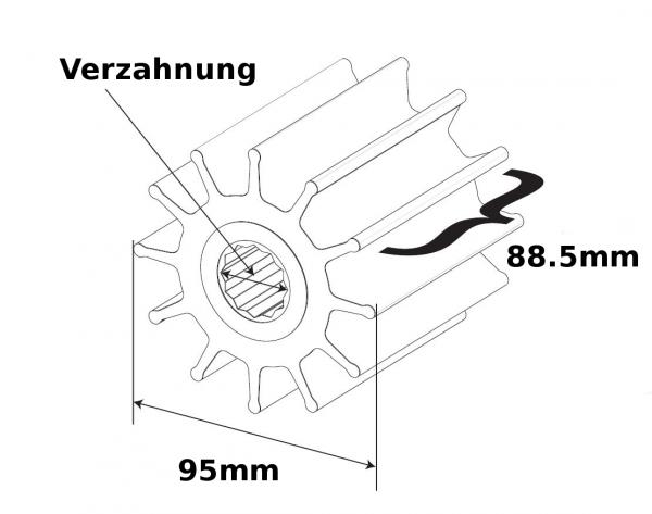 SPX Johnson Pump Impeller F9B Welle Verzahnung 802B