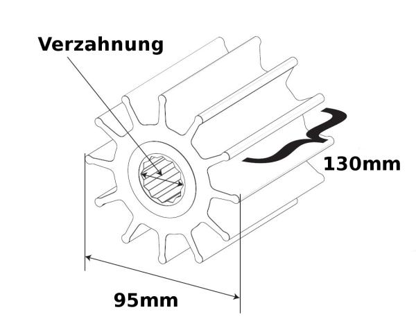 SPX Johnson Pump Impeller F95B Welle Verzahnung 820B