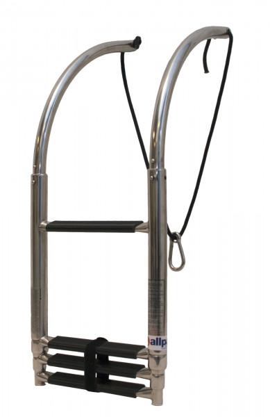Teleskopische NIRO 4-Stufen Badeleiter für Schlauchboot