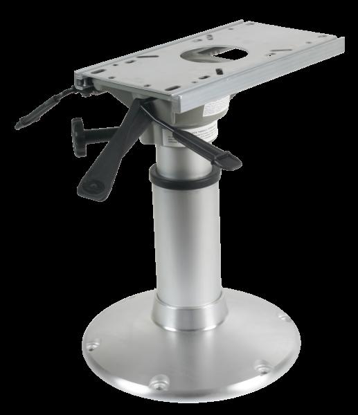 "Aluminium Mainstay ""Heavy Duty"" Stuhlfuß (360º Drehseibe + Lock) H=381-508mm, Basis Ø305mm"