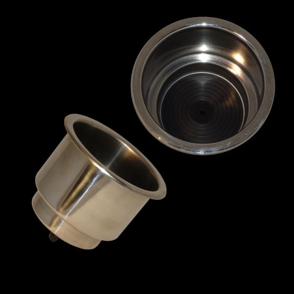Delux VA-Stahl Standard Glasshalter Drainageloch