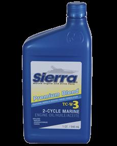 "Sierra Motoröl ""Blue"" Premium TC3-W3, 946ml, für Outboards 2-Takt"
