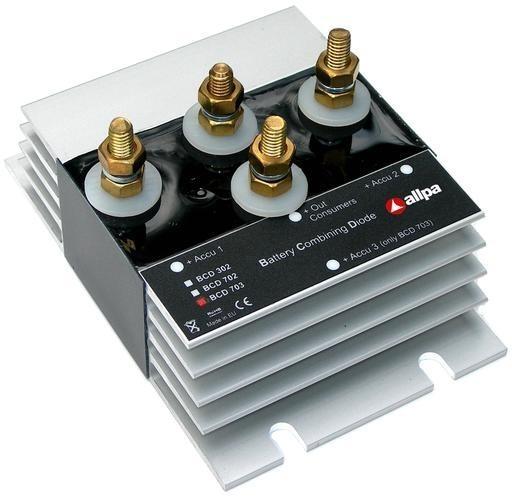 "allpa Batterie Combining Schottky Diode Modell ""BCD-703"", 12/ 24V (in & uit), 70A, 3 Batterien"