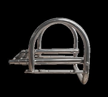 Prince Teleskopische Badeleiter für Badeplattform; 4+1 Ovale Stufen