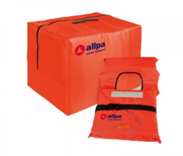 4x Rettungsweste 100N in praktischer Sicherheitstasche gemäß ISO 12404