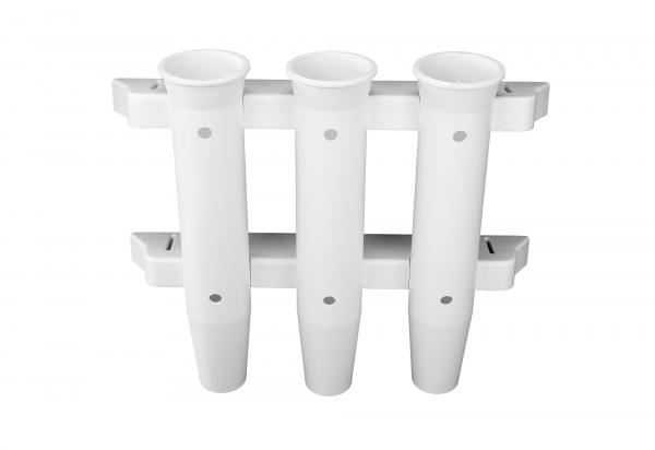 Angelrutenhalter z.Wandmontage Nylon weiß 3fach