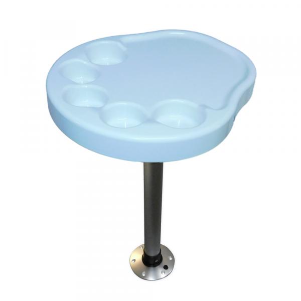 Kunststoff Tisch Satz mit Aluminium Tischbein & Fuß