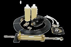 Hydraulischer Steuersatz 30kgm Inkl.pumpe/ Zyl. / Fitting/oel
