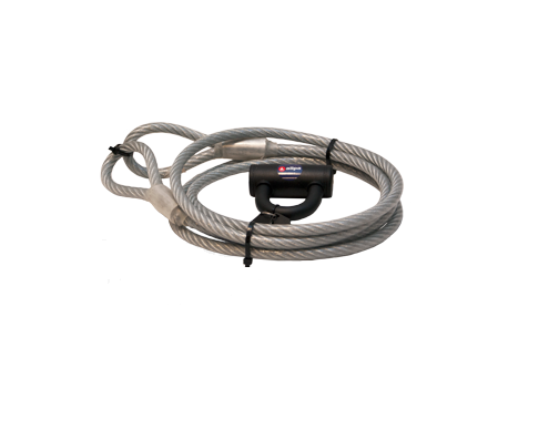 Plastifizierte Anti-Diebstahl-Kabel mit Schloß - L=5m