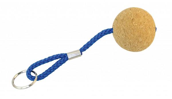 Schlüsselanhänger mit Korkball Schwimmfähig mit Messingring