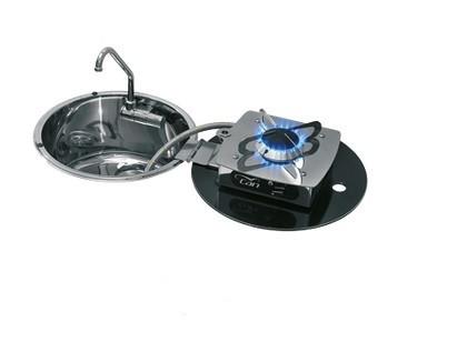CAN Spülbecken mit einklappbarem Gaskocher