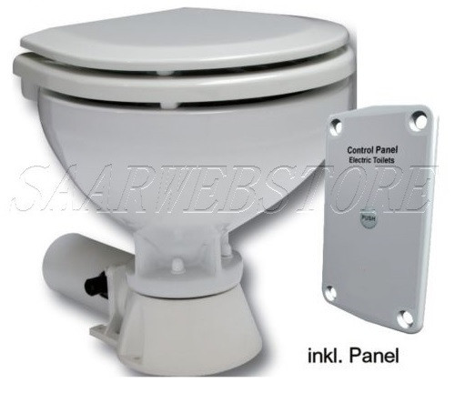 Standard-Electric Toilette, 24V / 7A, Komfort Becken,inkl. Bedienungspanel