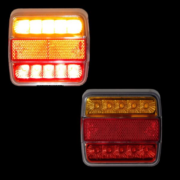 RECHTS/LINKS LED-Hecklicht mit 4 Leuchten