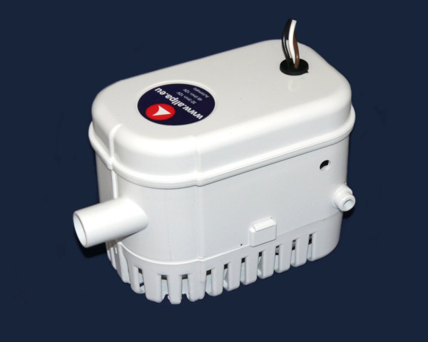 allpa Bilgepumpe mit integriertem Schwimmerschalter, 32l/min, 12V, 1.8A, Ø 19mm Schlauchanschluß