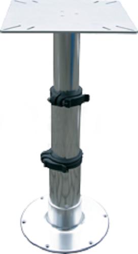 """allpa Aluminium Einstellbarer Tischbein """"Tristar"""" mit 3-Stufen Gasdruckverstellung, H=335-714mm"""